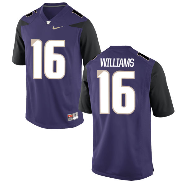 Youth Nike Amandre Williams Washington Huskies Game Purple Football Jersey