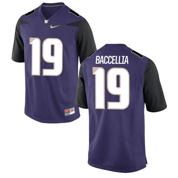Men's Nike Andre Baccellia Washington Huskies Replica Purple Football Jersey