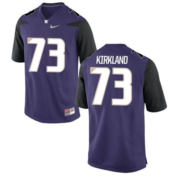 Men's Nike Andrew Kirkland Washington Huskies Replica Purple Football Jersey