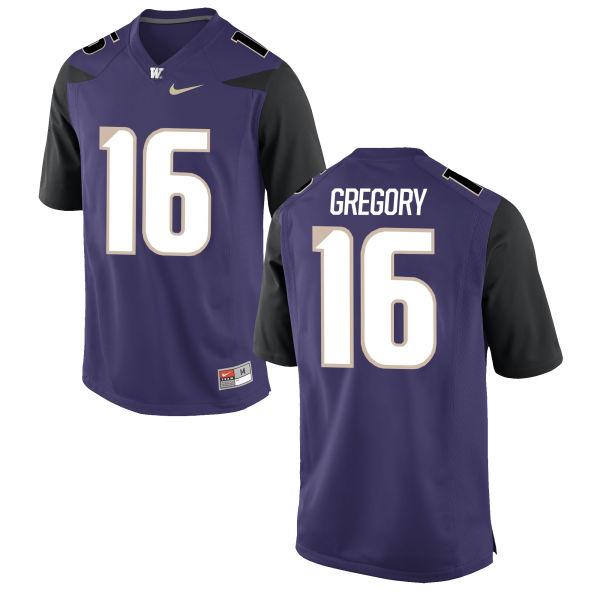 Men's Nike Blake Gregory Washington Huskies Game Purple Football Jersey