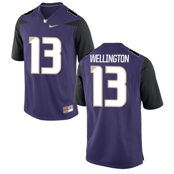 Men's Nike Brandon Wellington Washington Huskies Authentic Purple Football Jersey