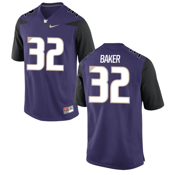 Youth Nike Budda Baker Washington Huskies Game Purple Football Jersey