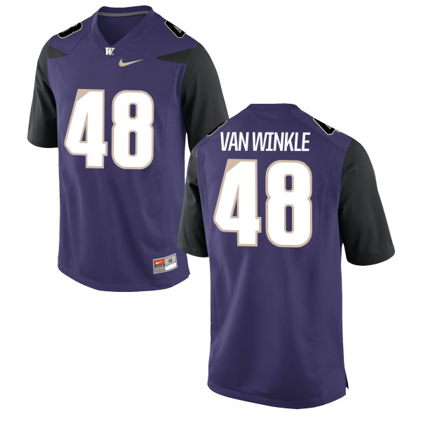 Men's Nike Cameron Van Winkle Washington Huskies Authentic Purple Football Jersey