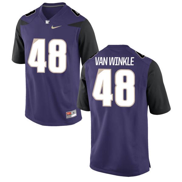 Youth Nike Cameron Van Winkle Washington Huskies Replica Purple Football Jersey