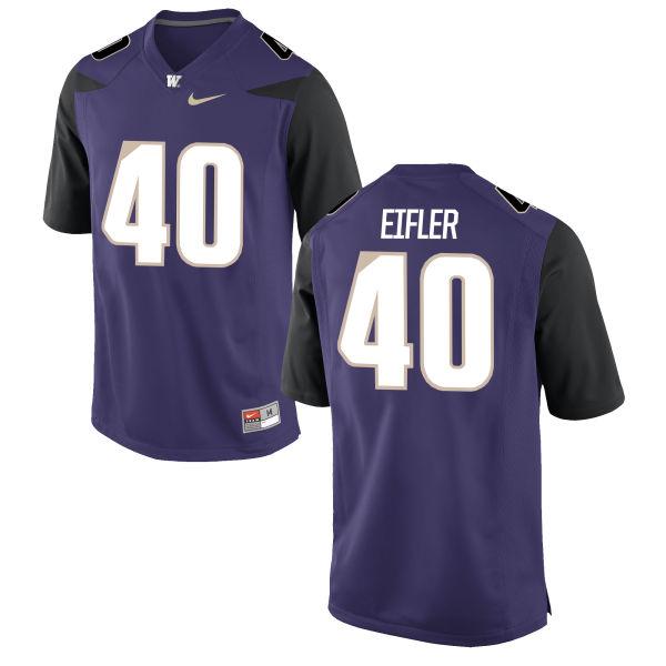 Men's Nike Camilo Eifler Washington Huskies Limited Purple Football Jersey