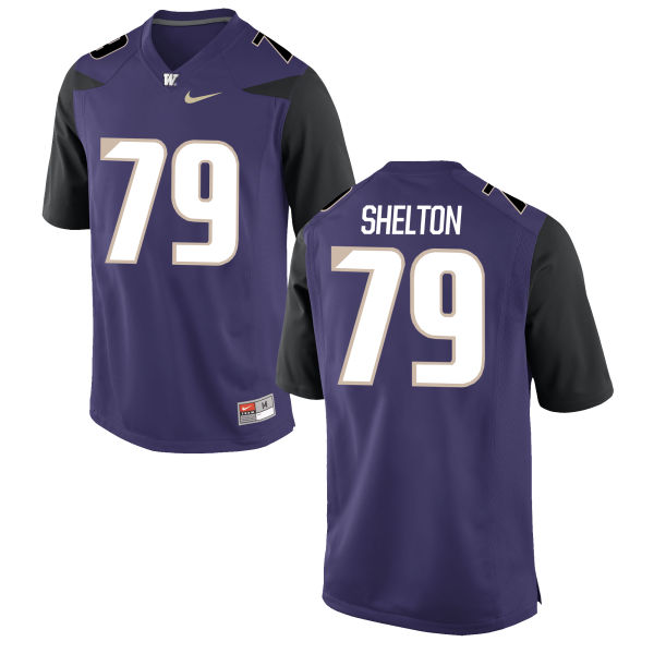 Men's Nike Coleman Shelton Washington Huskies Replica Purple Football Jersey