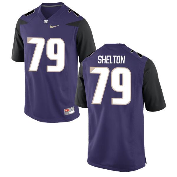 Men's Nike Coleman Shelton Washington Huskies Authentic Purple Football Jersey