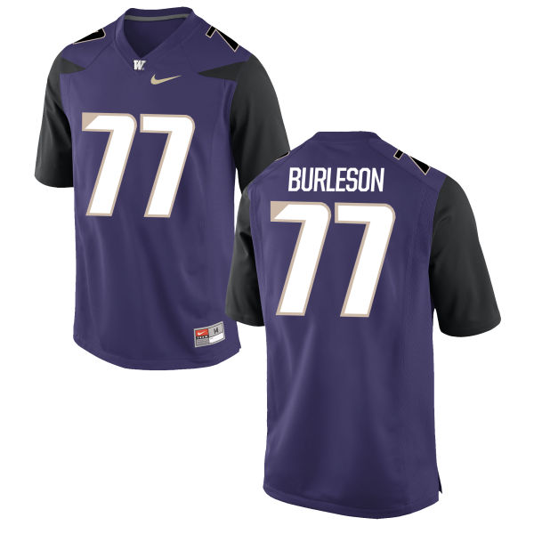 Men's Nike Devin Burleson Washington Huskies Authentic Purple Football Jersey