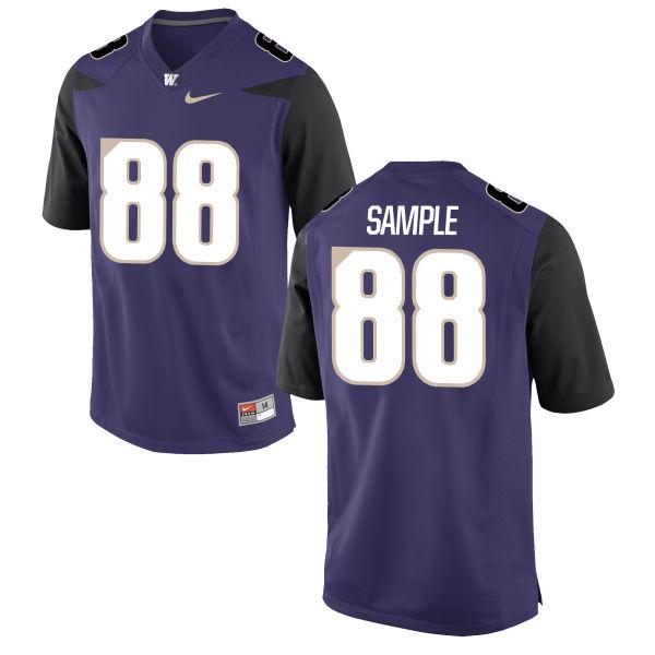 Youth Nike Drew Sample Washington Huskies Game Purple Football Jersey