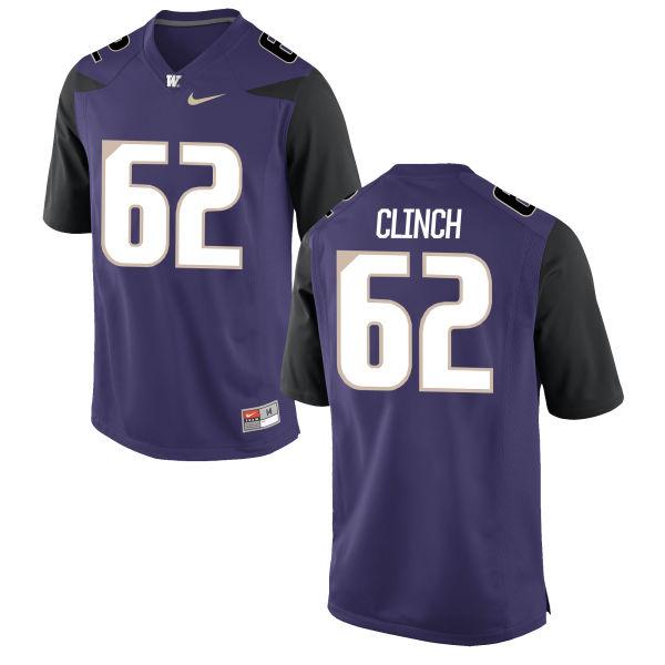 Men's Nike Duke Clinch Washington Huskies Authentic Purple Football Jersey