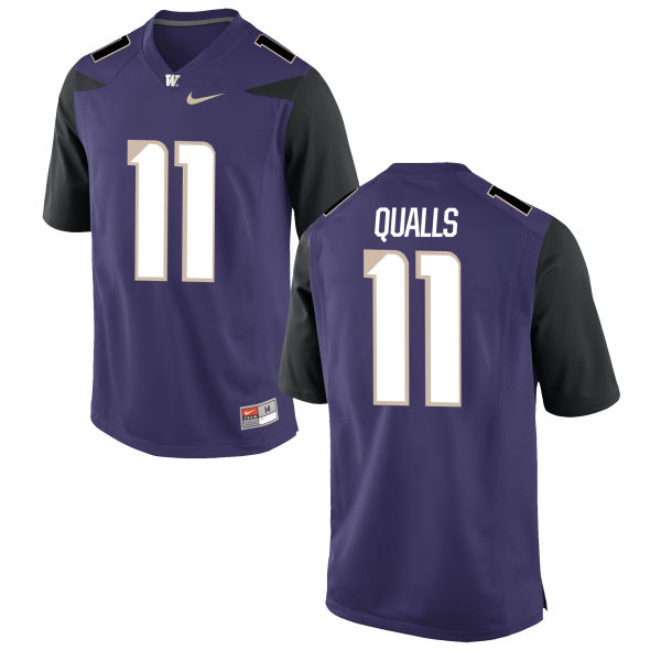 Youth Nike Elijah Qualls Washington Huskies Game Purple Football Jersey