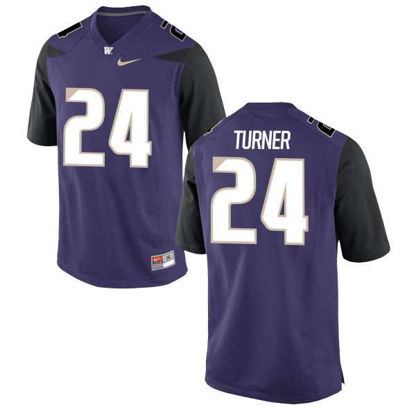 Men's Nike Ezekiel Turner Washington Huskies Authentic Purple Football Jersey