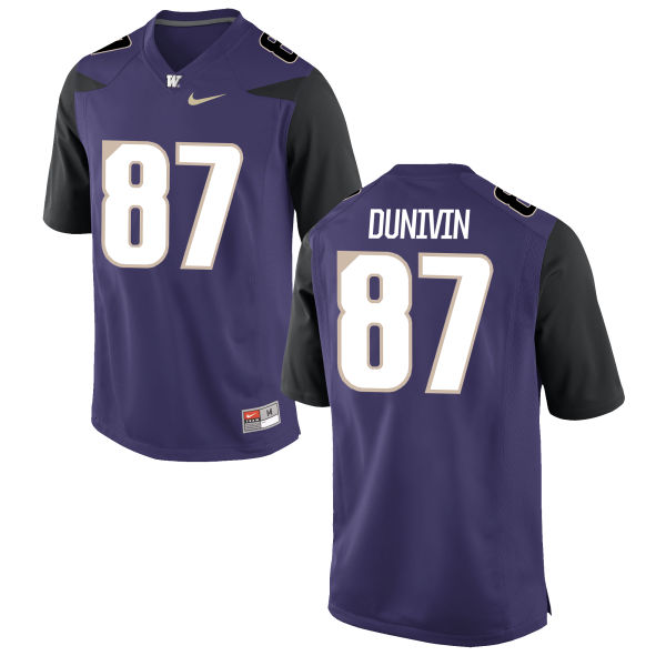 Men's Nike Forrest Dunivin Washington Huskies Authentic Purple Football Jersey