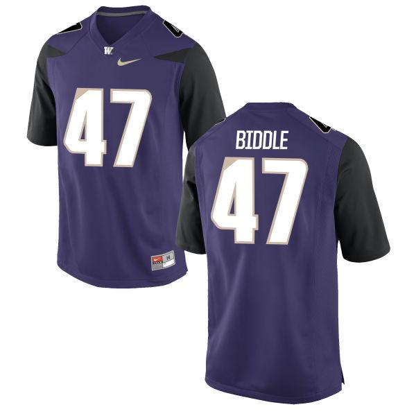 Youth Nike Ian Biddle Washington Huskies Game Purple Football Jersey