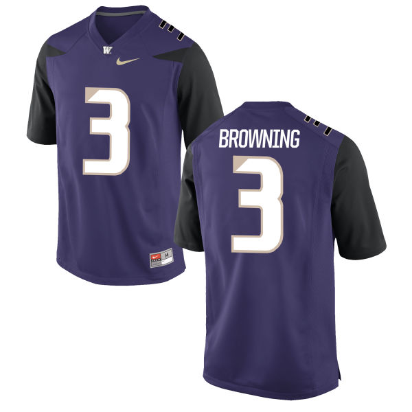 Men's Nike Jake Browning Washington Huskies Game Purple Football Jersey