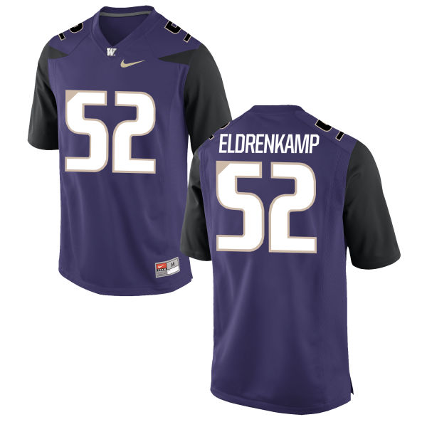 Men's Nike Jake Eldrenkamp Washington Huskies Game Purple Football Jersey