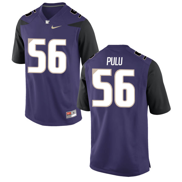 Men's Nike Jared Pulu Washington Huskies Game Purple Football Jersey