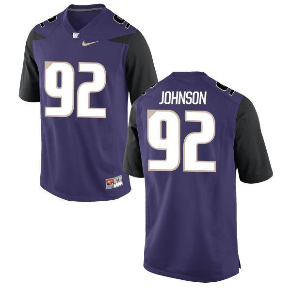 Men's Nike Jaylen Johnson Washington Huskies Game Purple Football Jersey