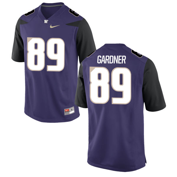 Men's Nike John Gardner Washington Huskies Authentic Purple Football Jersey