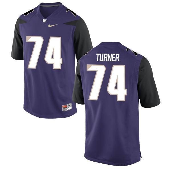 Men's Nike John Turner Washington Huskies Game Purple Football Jersey