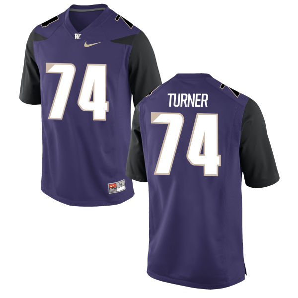 Women's Nike John Turner Washington Huskies Game Purple Football Jersey