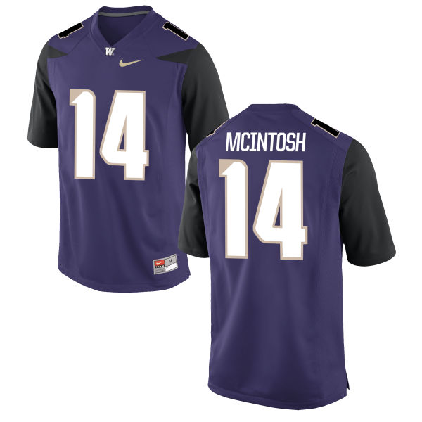 Men's Nike Jojo McIntosh Washington Huskies Authentic Purple Football Jersey
