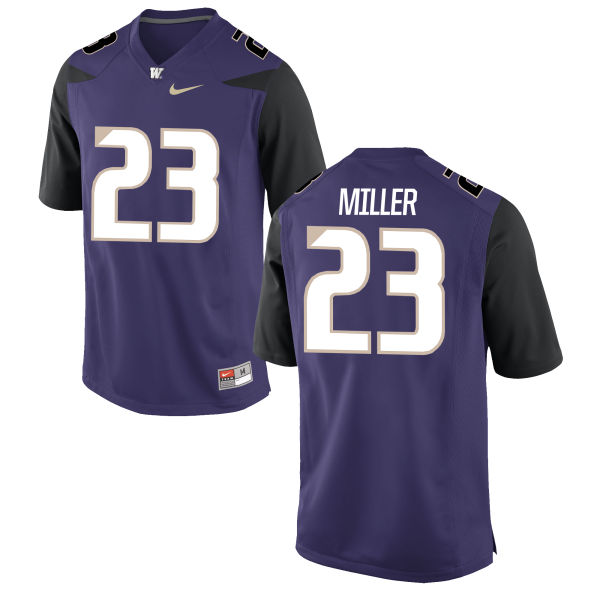 Men's Nike Jordan Miller Washington Huskies Authentic Purple Football Jersey
