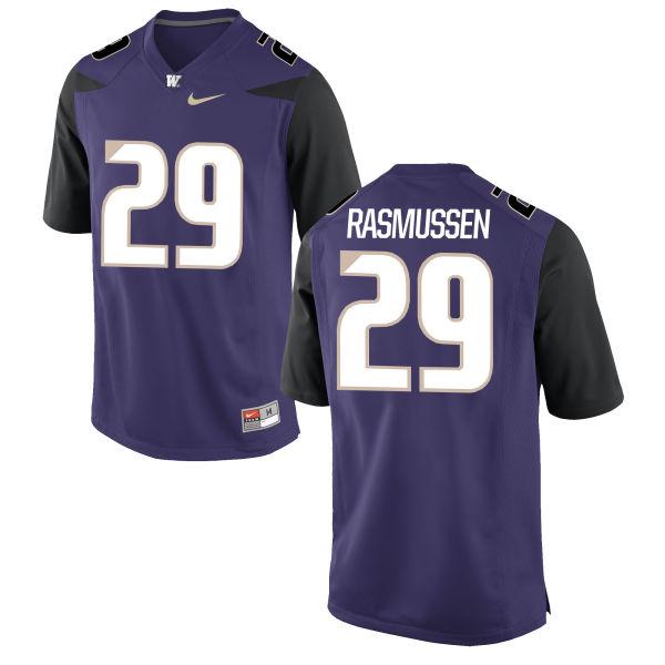 Men's Nike Josh Rasmussen Washington Huskies Authentic Purple Football Jersey