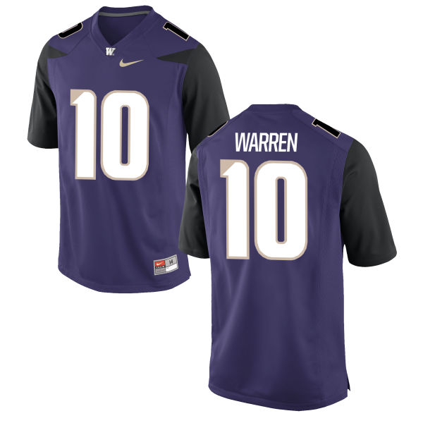 Youth Nike Jusstis Warren Washington Huskies Authentic Purple Football Jersey