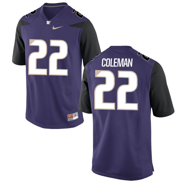 Men's Nike Lavon Coleman Washington Huskies Replica Purple Football Jersey
