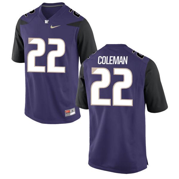 Men's Nike Lavon Coleman Washington Huskies Authentic Purple Football Jersey