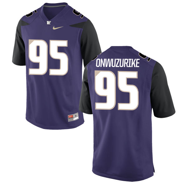 Youth Nike Levi Onwuzurike Washington Huskies Game Purple Football Jersey