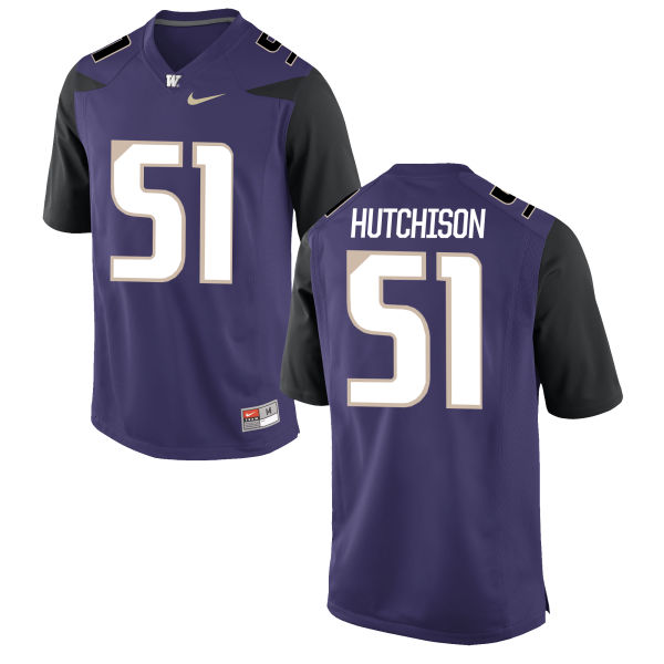 Men's Nike Luke Hutchison Washington Huskies Authentic Purple Football Jersey