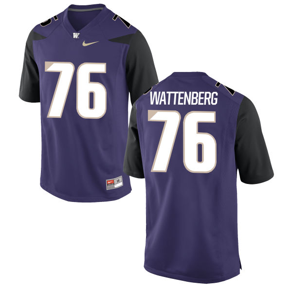 Men's Nike Luke Wattenberg Washington Huskies Game Purple Football Jersey