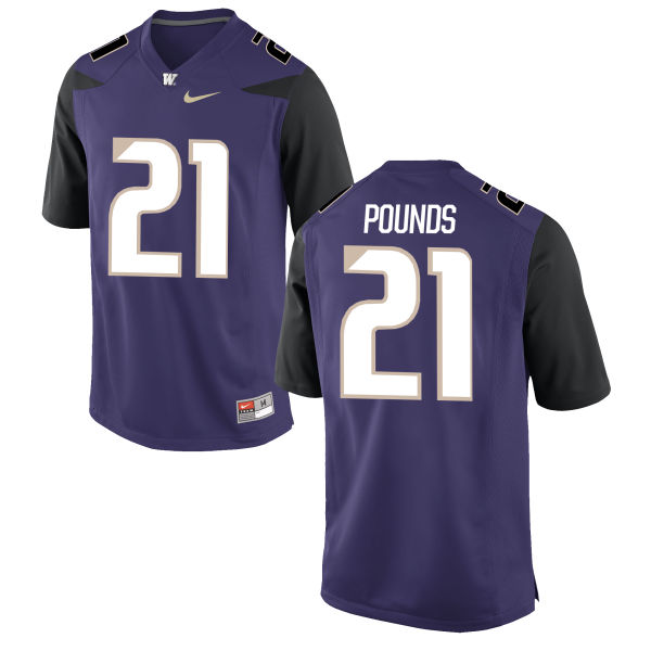 Men's Nike Quinten Pounds Washington Huskies Replica Purple Football Jersey