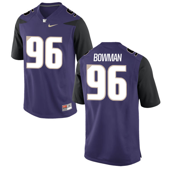 Men's Nike Shane Bowman Washington Huskies Replica Purple Football Jersey