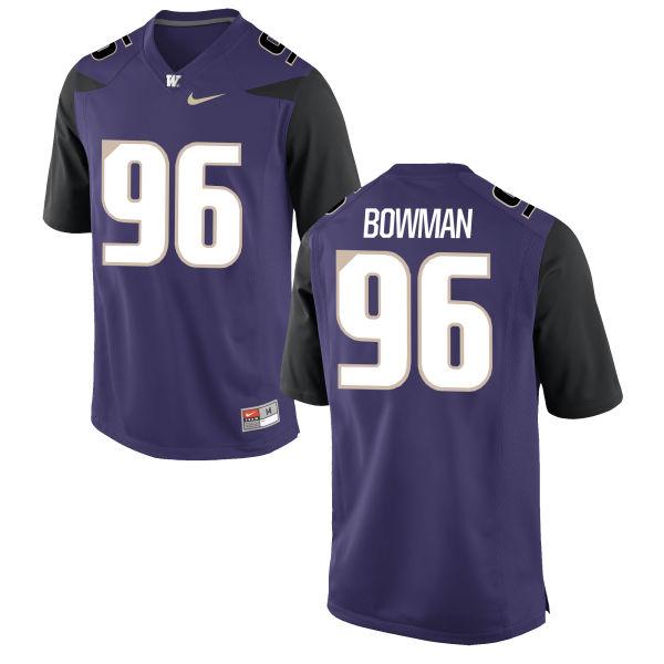 Men's Nike Shane Bowman Washington Huskies Game Purple Football Jersey