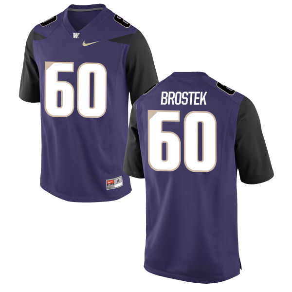 Men's Nike Shane Brostek Washington Huskies Authentic Purple Football Jersey