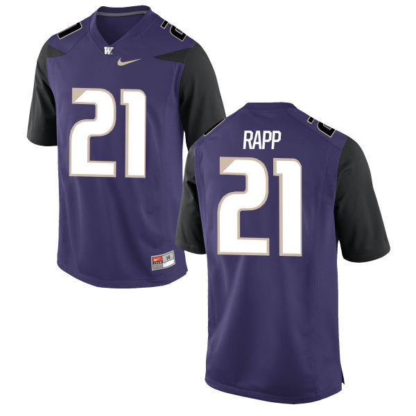 Men's Nike Taylor Rapp Washington Huskies Replica Purple Football Jersey