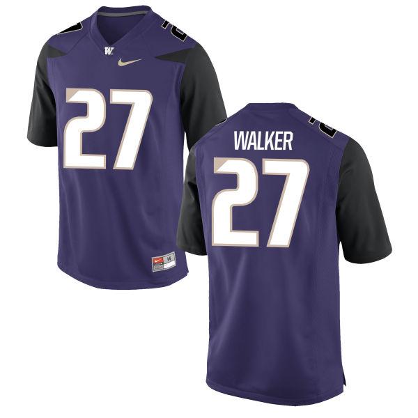 Men's Nike Trevor Walker Washington Huskies Authentic Purple Football Jersey