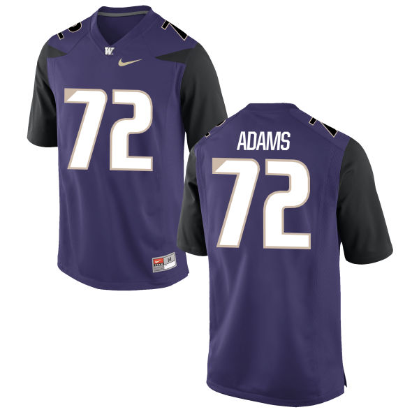 Men's Nike Trey Adams Washington Huskies Replica Purple Football Jersey