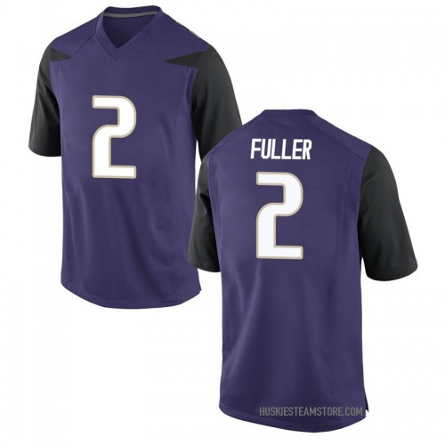 Men's Nike Aaron Fuller Washington Huskies Game Purple Football College Jersey