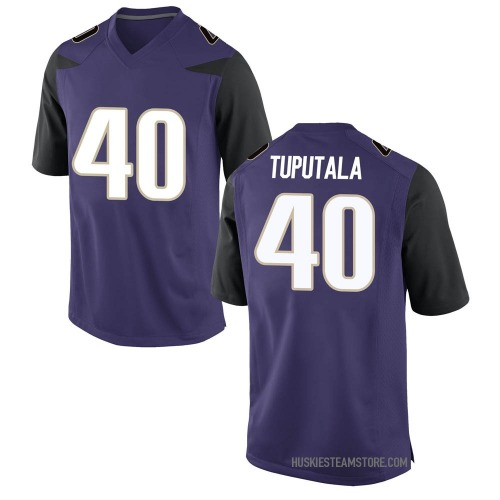 Men's Nike Alphonzo Tuputala Washington Huskies Game Purple Football College Jersey