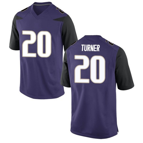 Men's Nike Asa Turner Washington Huskies Game Purple Football College Jersey
