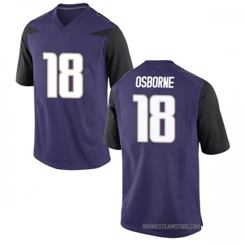 Men's Nike Austin Osborne Washington Huskies Replica Purple Football College Jersey