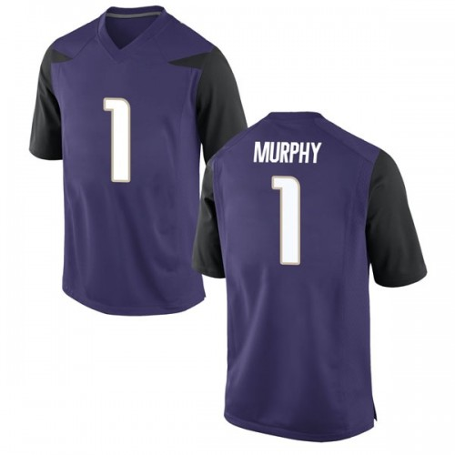 Men's Nike Byron Murphy Washington Huskies Replica Purple Football College Jersey