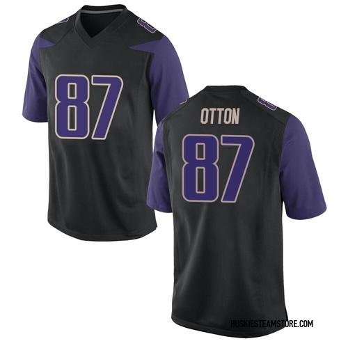 Men's Nike Cade Otton Washington Huskies Game Black Football College Jersey