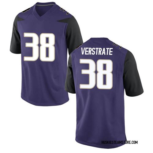Men's Nike Camden VerStrate Washington Huskies Replica Purple Football College Jersey