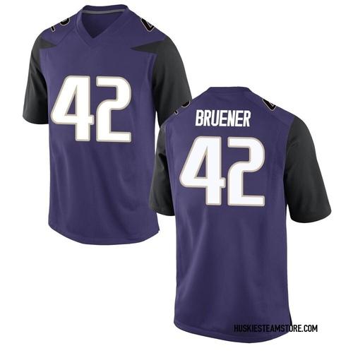 Men's Nike Carson Bruener Washington Huskies Replica Purple Football College Jersey
