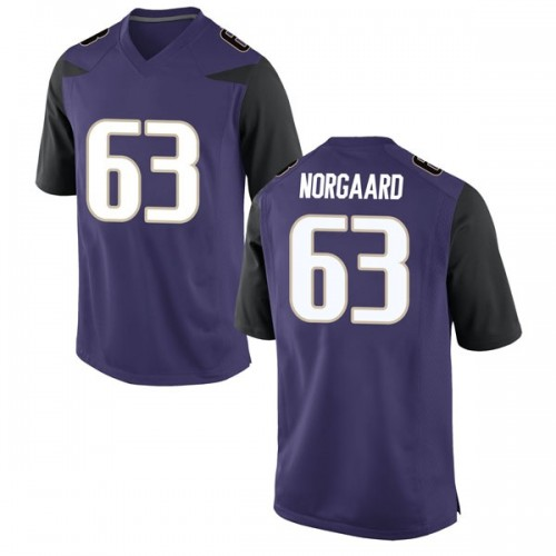 Men's Nike Cole Norgaard Washington Huskies Game Purple Football College Jersey